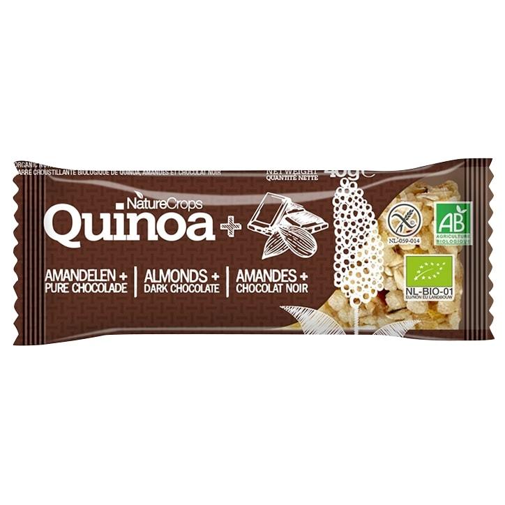 NatureCrops Quinoa Bar Dark Chocolate & Almond 40g