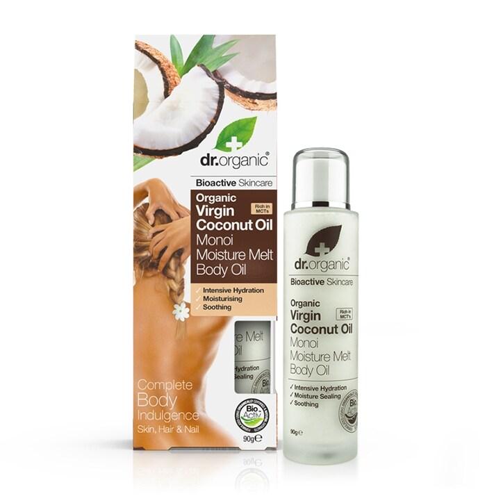 Dr Organic Virgin Coconut Oil Moisture Melt Body Oil 90g