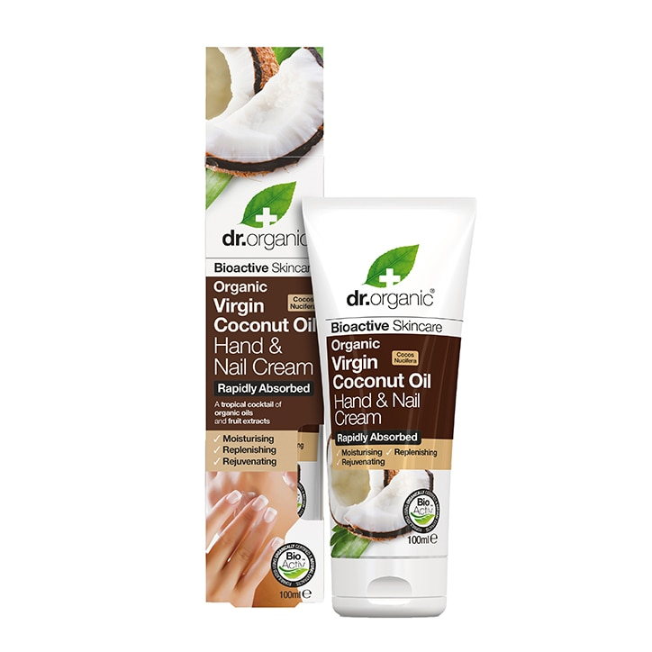 Dr Organic Virgin Coconut Oil Hand & Nail Cream 100ml