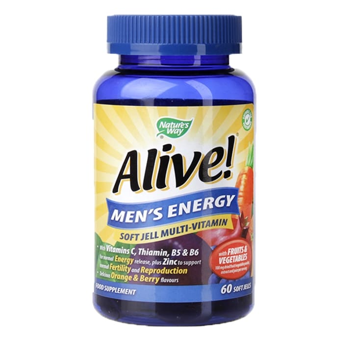 Nature's Way Alive! Mens Energy Soft Jells