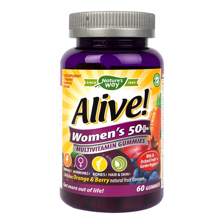 Nature's Way Alive! Womens 50+ Multivitamin 60 Gummies