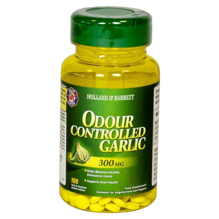 Holland & Barrett Odour Controlled Garlic 100 Tablets 300mg