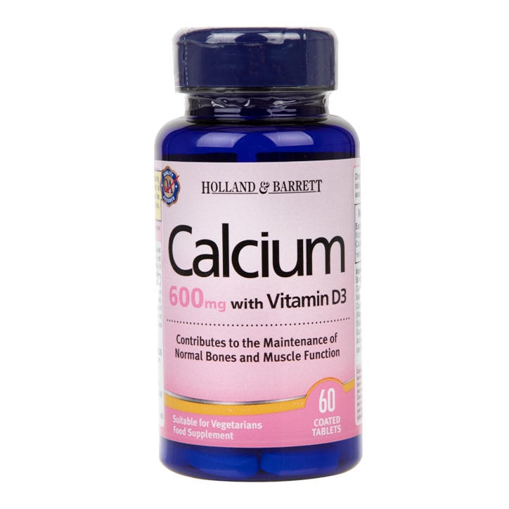 Holland & Barrett Calcium plus Vitamin D 60 Tablets