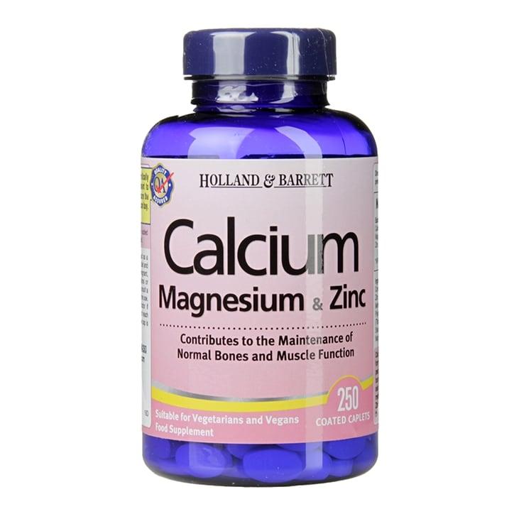Holland & Barrett Calcium Magnesium & Zinc 250 Caplets