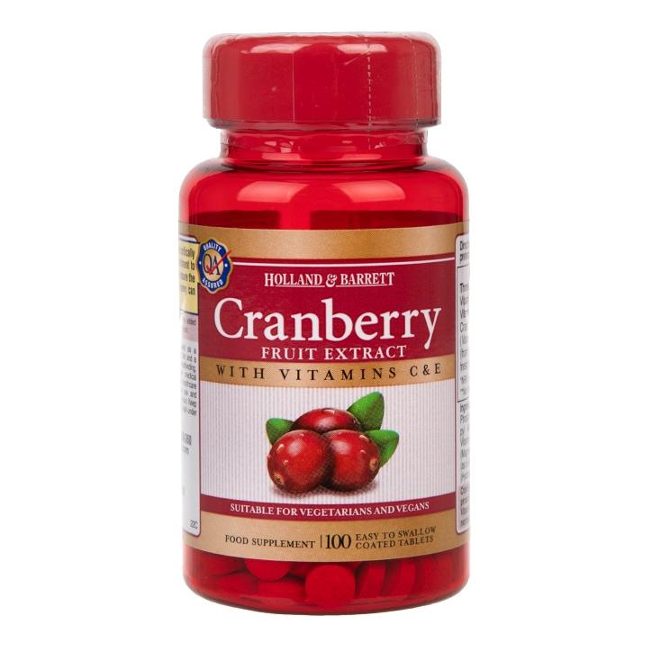 Holland & Barrett Cranberry Fruit Extract 100 Tablets