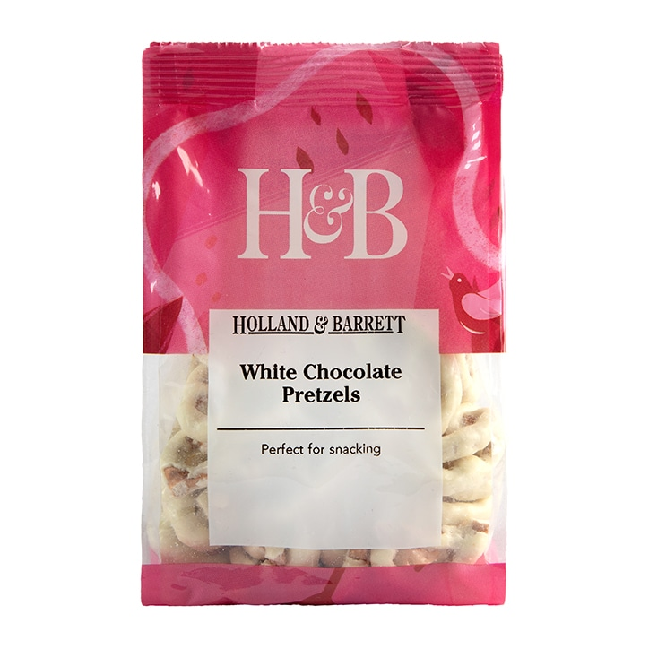 Holland & Barrett White Chocolate Pretzels 140g