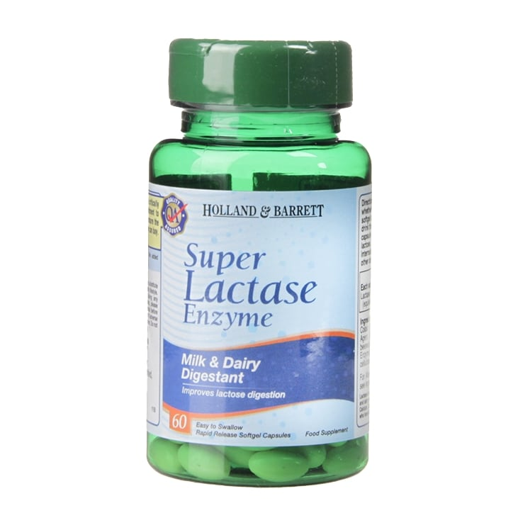 Holland & Barrett Super Lactase Enzyme 60 Capsules 125mg