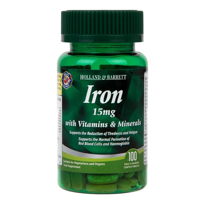 Holland & Barrett Iron 15mg with Vitamins & Minerals Caplets