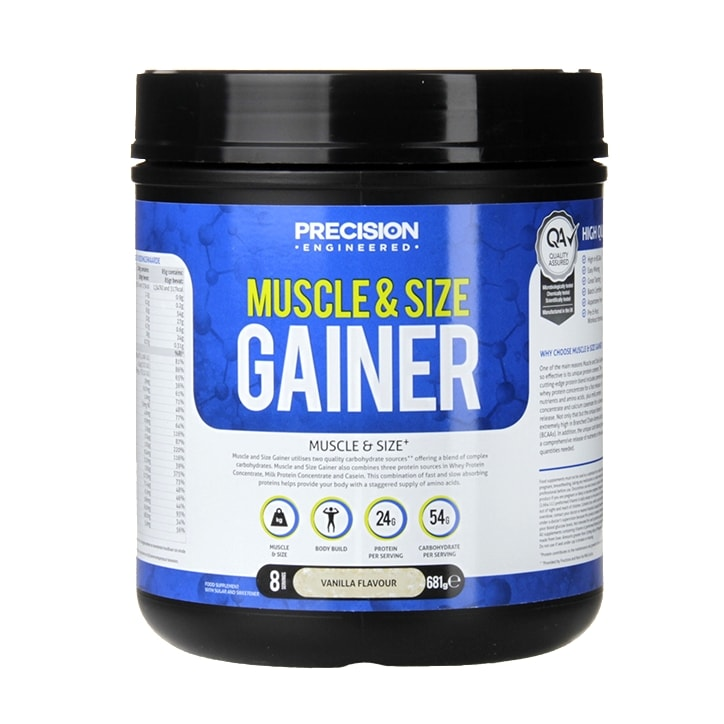 Precision Engineered Muscle & Size Gainer Powder Vanilla 681g