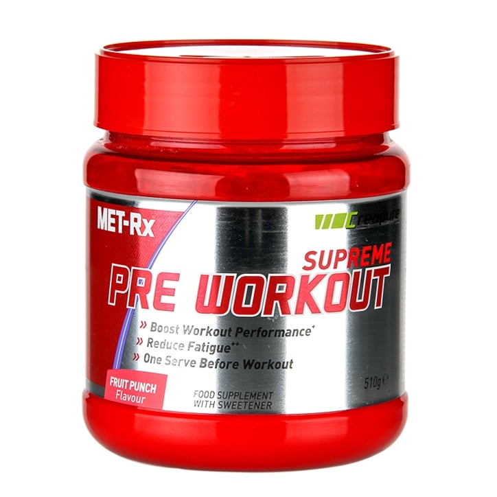 MET-Rx Supreme Pre Workout Powder Fruit Punch 510g