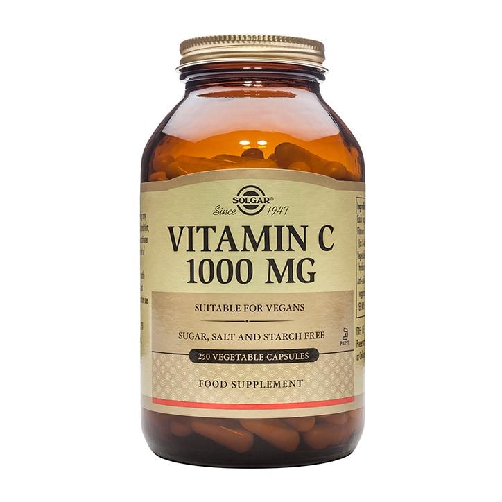 Solgar Vitamin C 1000mg 250 Vegi Capsules