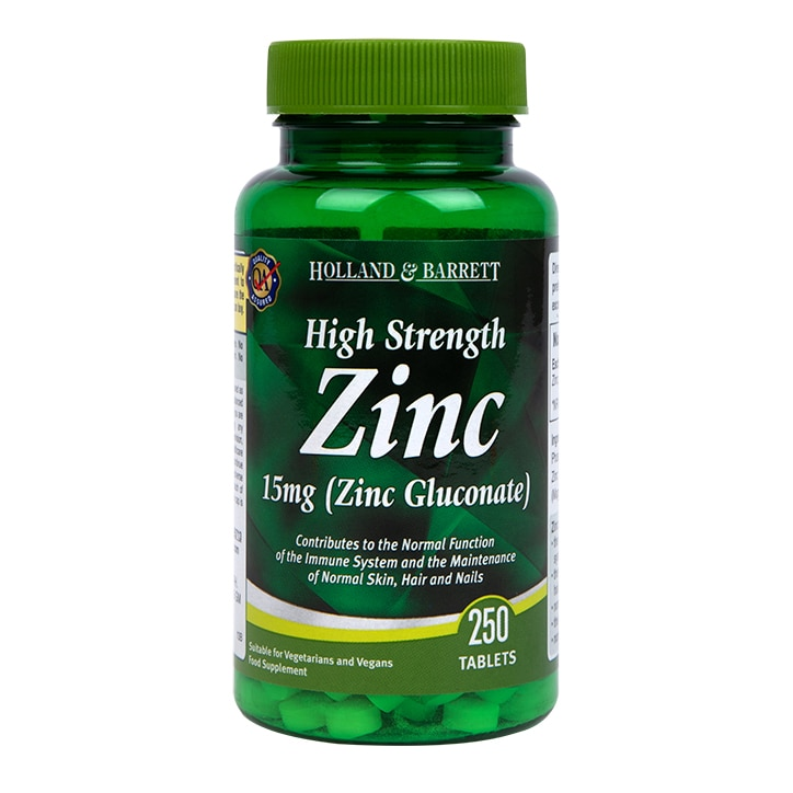 Holland & Barrett High Strength Zinc 250 Tablets 15mg