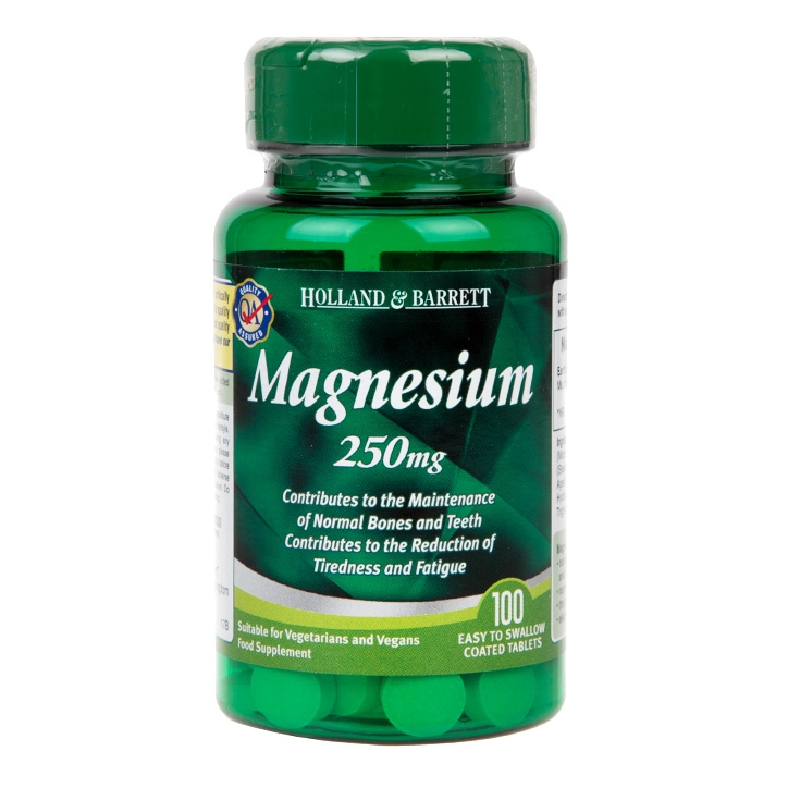 Holland & Barrett Magnesium 100 Tablets 250mg