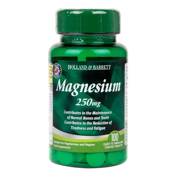 Holland & Barrett Magnesium 100 Tablets 250mg