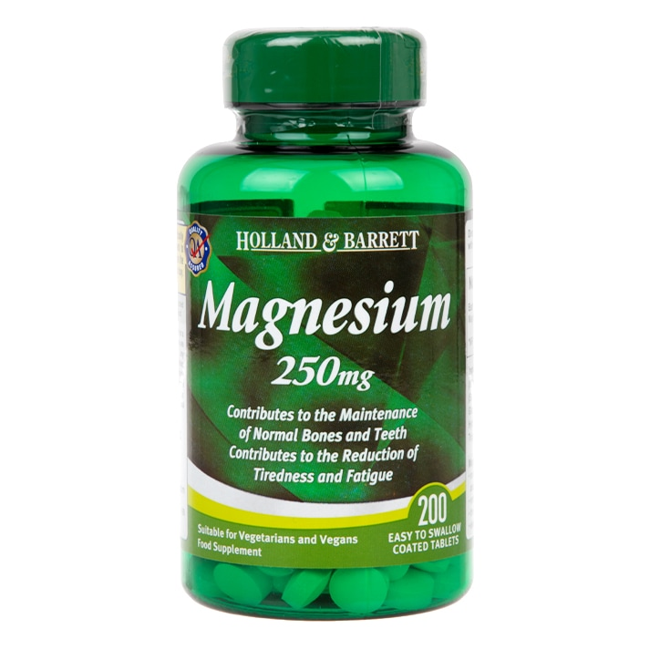 Holland & Barrett Magnesium 200 Tablets 250mg