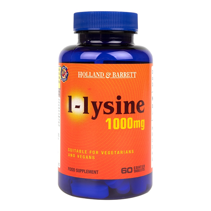 Holland & Barrett l-lysine 60 Caplets 1000mg