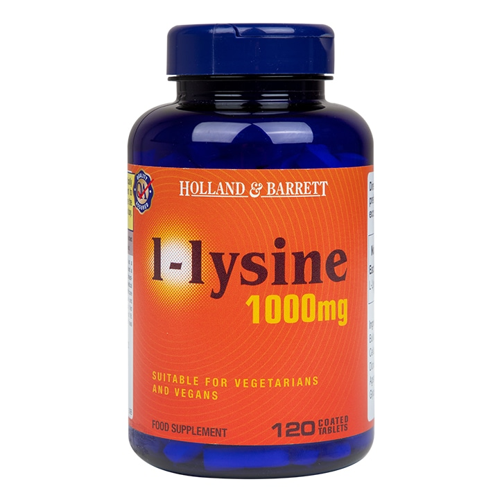 Holland & Barrett l-lysine 120 Caplets 1000mg