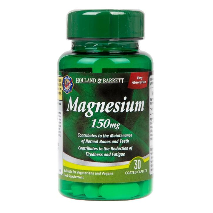 Holland & Barrett Magnesium 30 Caplets 150mg