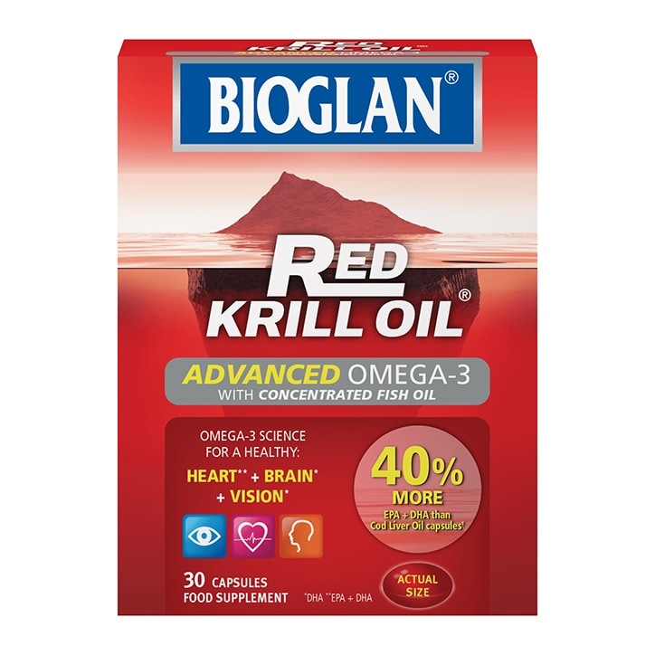 Bioglan Red Krill Oil Advanced Omega-3 30 Capsules