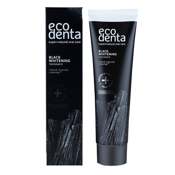 Ecodenta Extra Black Whitening Toothpaste with Black Charcoal & Teavigo 100ml
