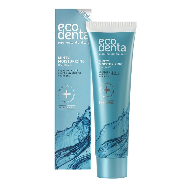 Ecodenta Extra Refreshing Moisturizing Toothpaste with Hyaluronic Acid & Peppermint Oil