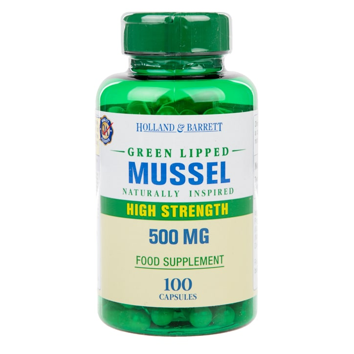 Holland & Barrett Green Lipped Mussel Capsules 500mg