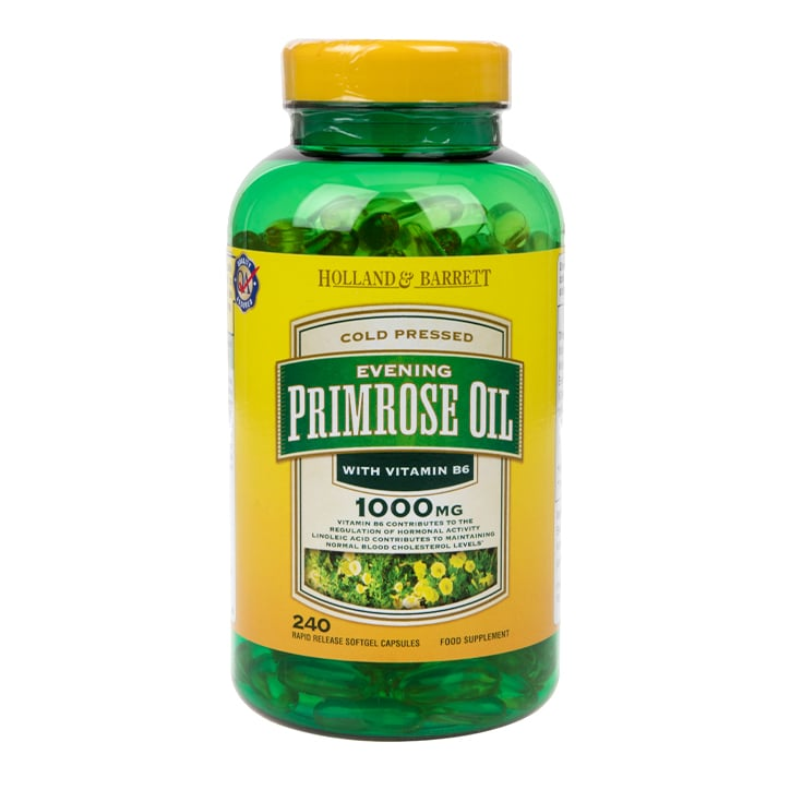 Holland & Barrett Natural Evening Primrose Oil Capsules 1000mg plus Vitamin B6