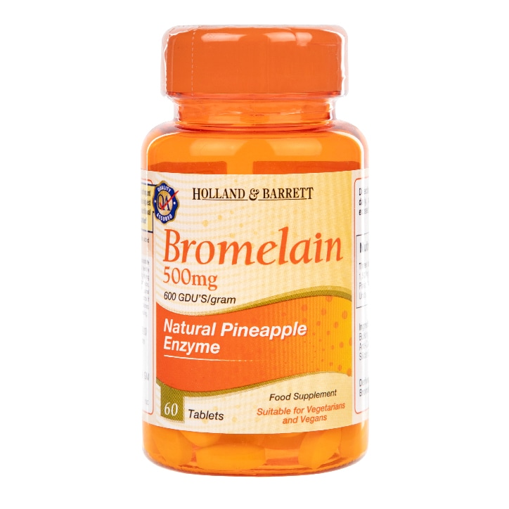 Holland & Barrett Bromelain 60 Tablets 500mg