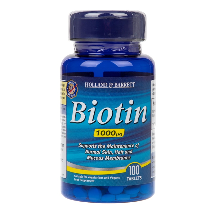 Holland & Barrett Biotin Tablets 1000ug