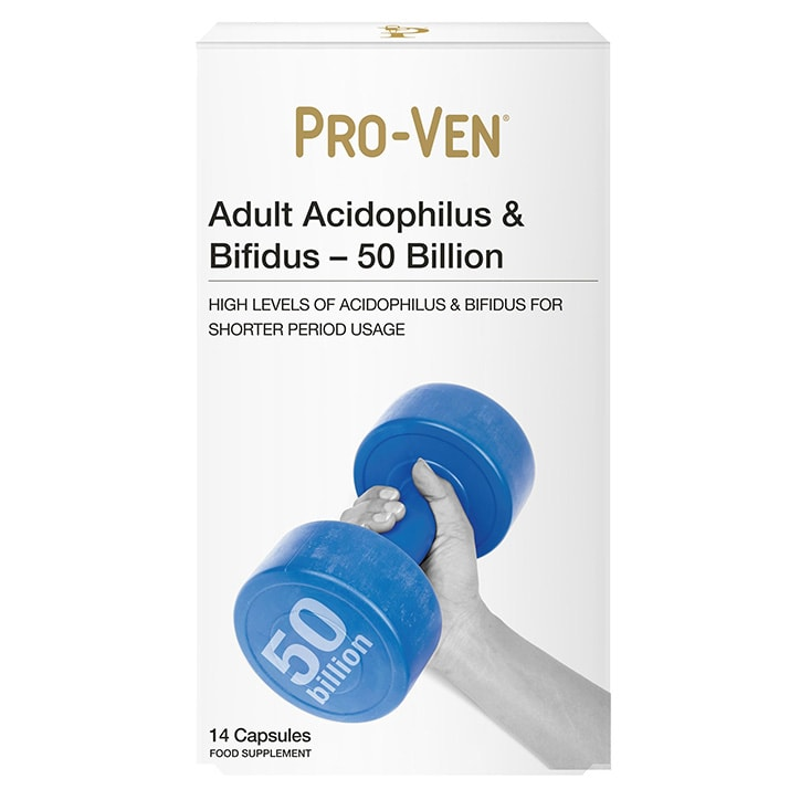 Pro-Ven Adult Acidophilus & Bifidus 50 Billion 14 Capsules