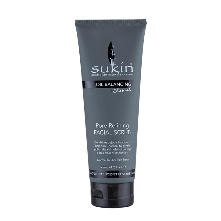 Sukin Oil Balancing + Charcoal Pore Refining Facial Scrub 125ml