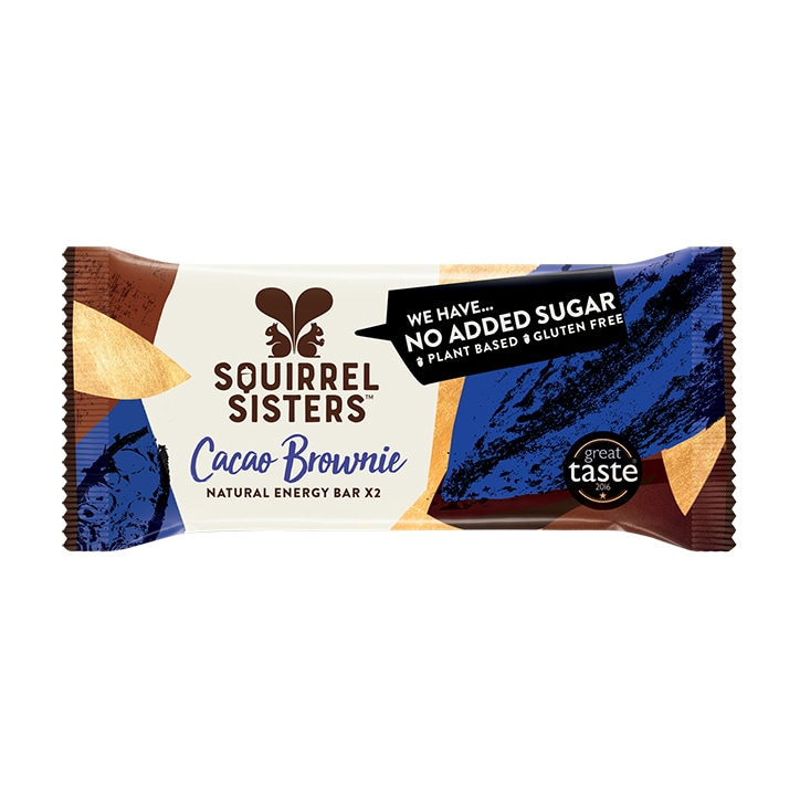 Squirrel Sisters Cacao Brownie Raw Energy Bar 40g