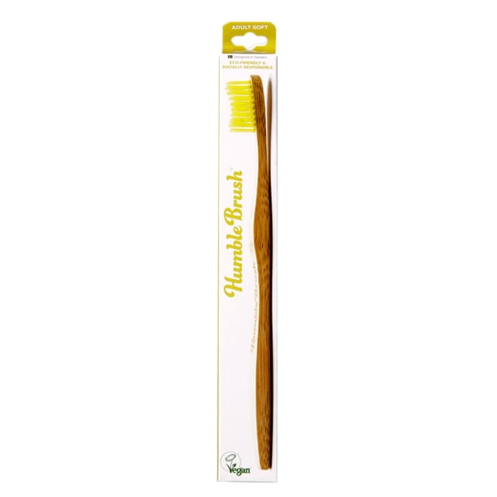 Humble Brush Adults Soft Bristle Toothbrush Yellow