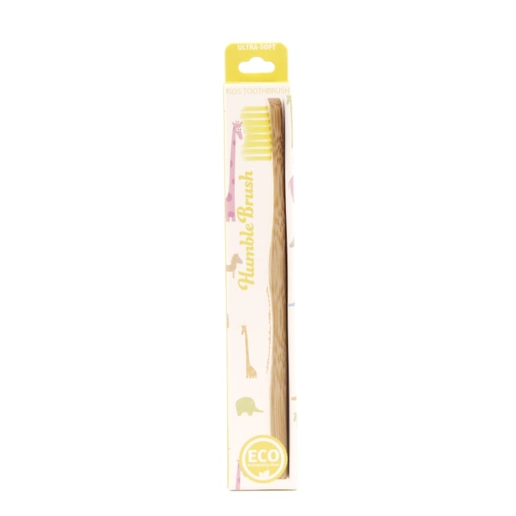 Humble Brush Kids Ultra Soft Bristle Toothbrush Yellow
