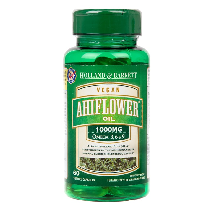 Holland & Barrett Ahiflower Oil 1000mg 60 Capsules