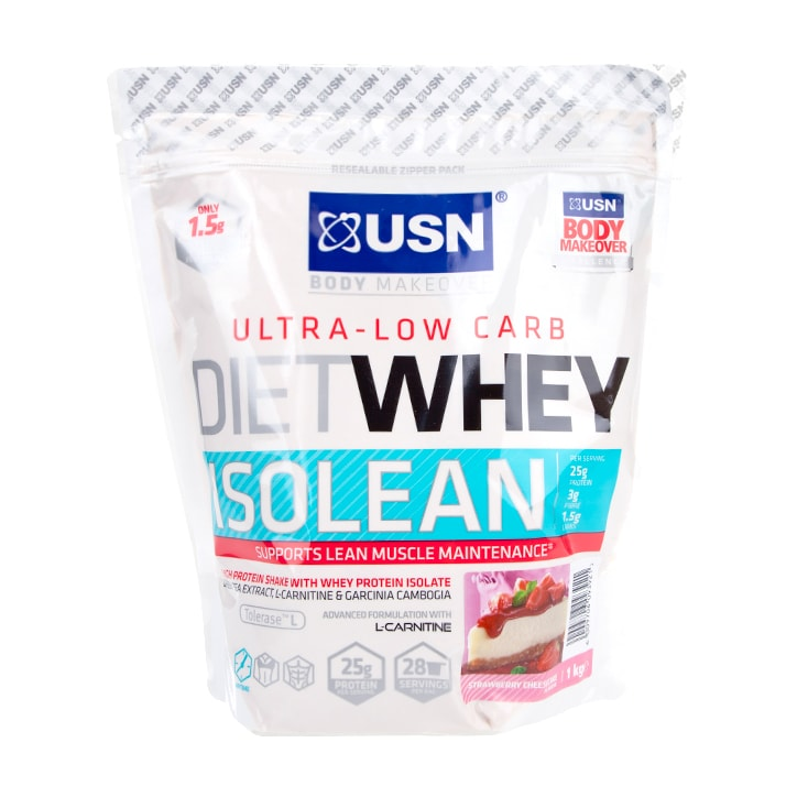 USN Diet Whey Isolean Strawberry Cheesecake 1kg