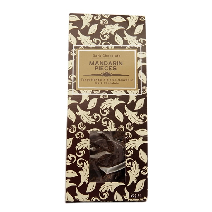 Holland & Barrett Dark Chocolate Mandarin Pieces 95g