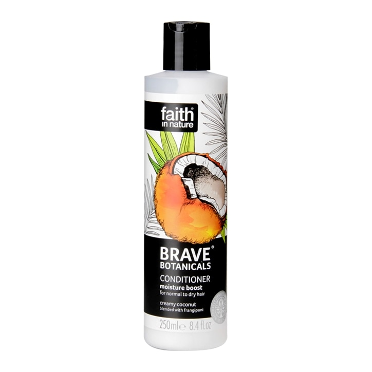 Faith in Nature Brave Botanicals Moisture Boost Coconut & Frangipani Conditioner