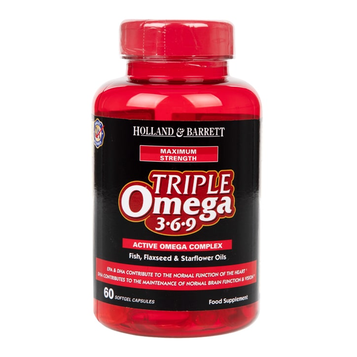 Holland & Barrett Maximum Strength Triple Omega 369 60 Capsules
