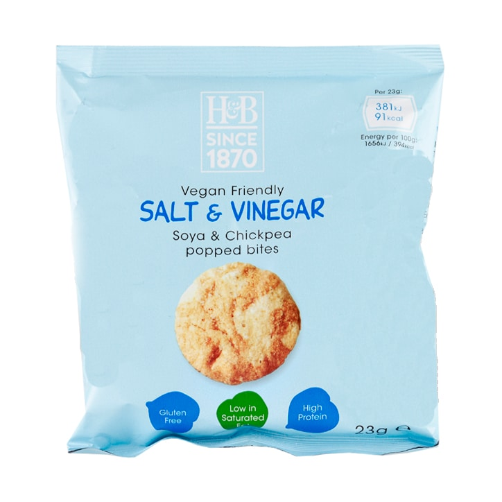 Holland & Barrett Salt & Vinegar Soya & Chickpea Popped Bites 23g