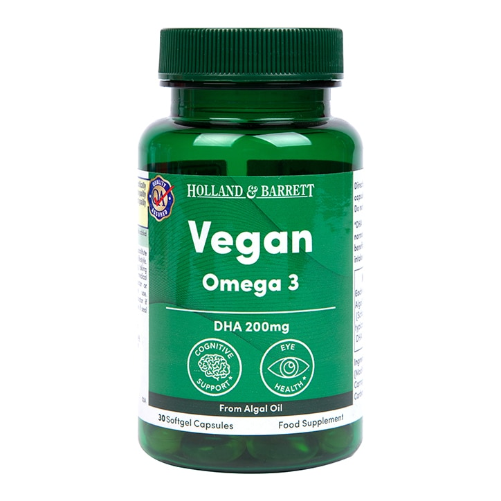 Holland & Barrett Algal Oil Omega 3 30 Softgel Capsules