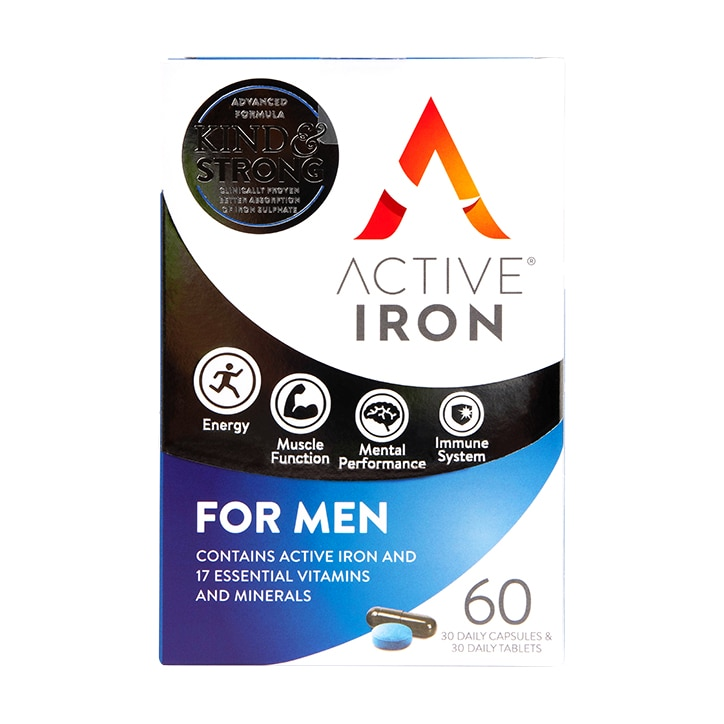 Active Iron & B Complex for Men 60 Capsules