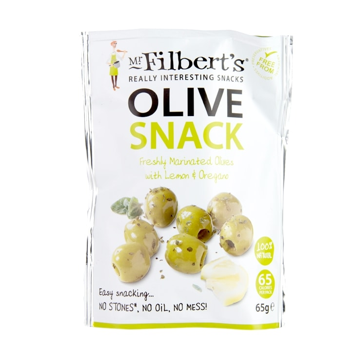 Mr Filbert's Pitted Green Olives with Lemon & Oregano 65g