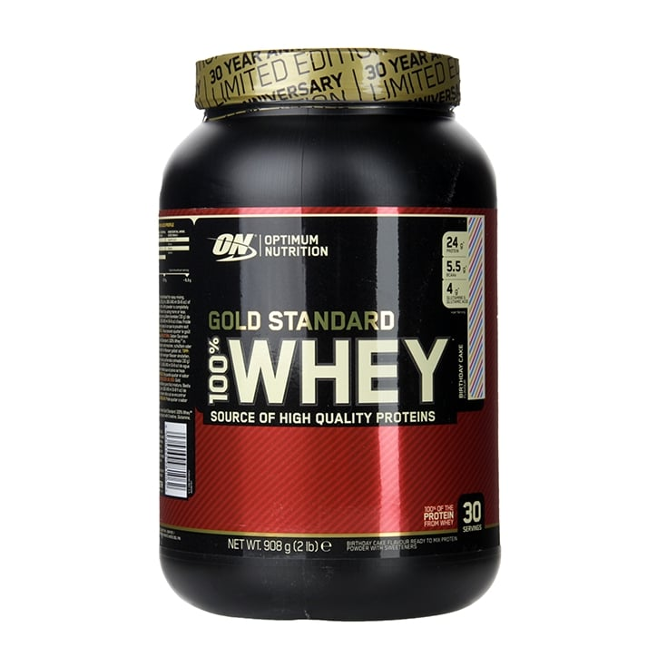 Optimum Nutrition Gold Standard 100 Whey Powder Birthday Cake