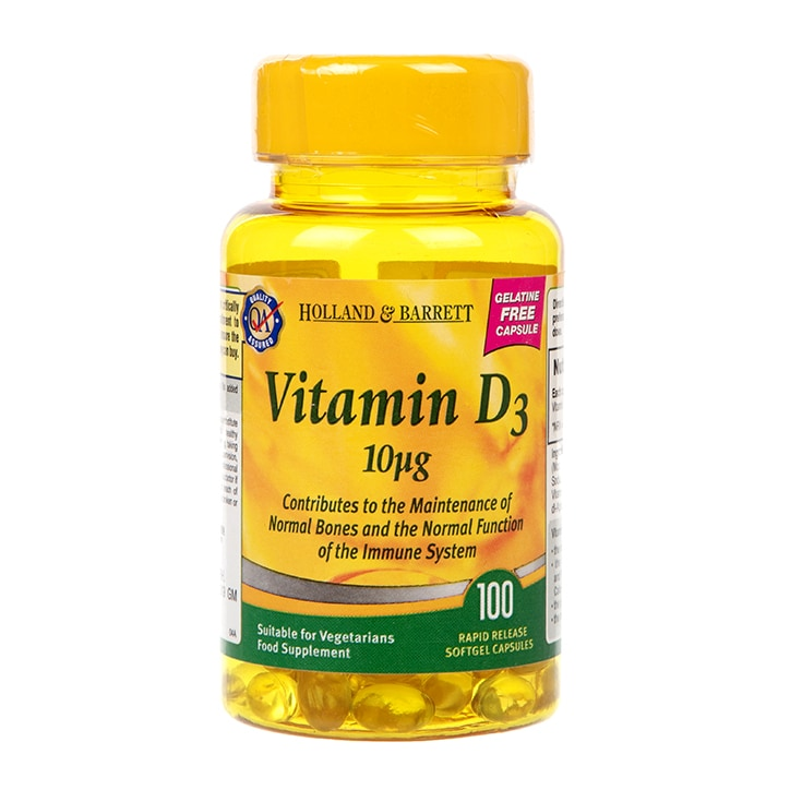 Holland & Barrett Vegetarian Vitamin D3 Capsules 400 I.U