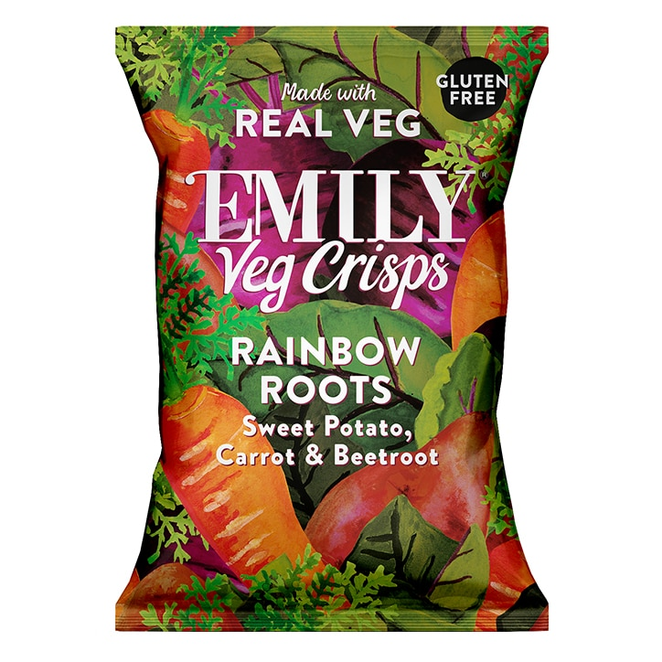 Emily Veg Crisps Rainbow Roots 23g