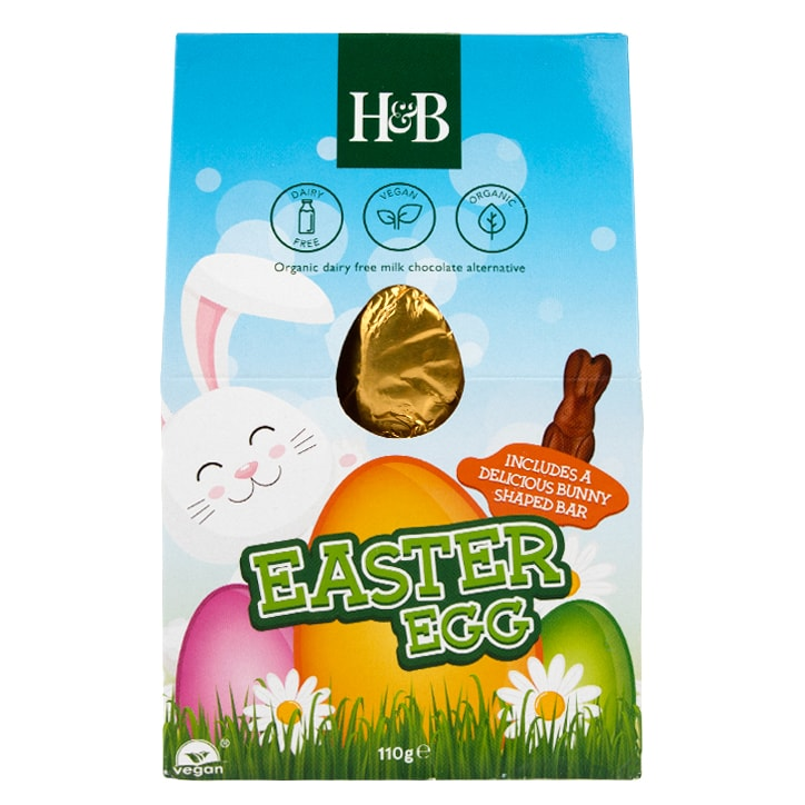 Holland & Barrett Milk Chocolate Style Egg with Bunny Bar 110g