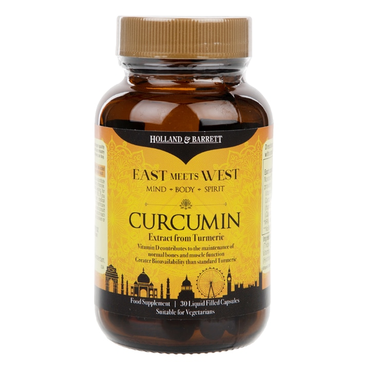 Holland & Barrett East Meets West Curcumin 30 Capsules