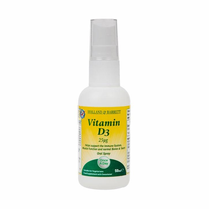 Holland & Barrett Vitamin D3 Spray 25ug 50ml