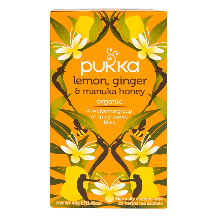 Pukka Organic Lemon, Ginger & Manuka Honey Herbal Tea 36g